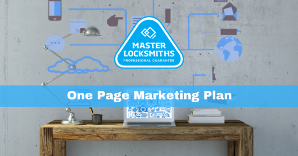 One Page Marketing Plan Template for Locksmiths & Security Experts